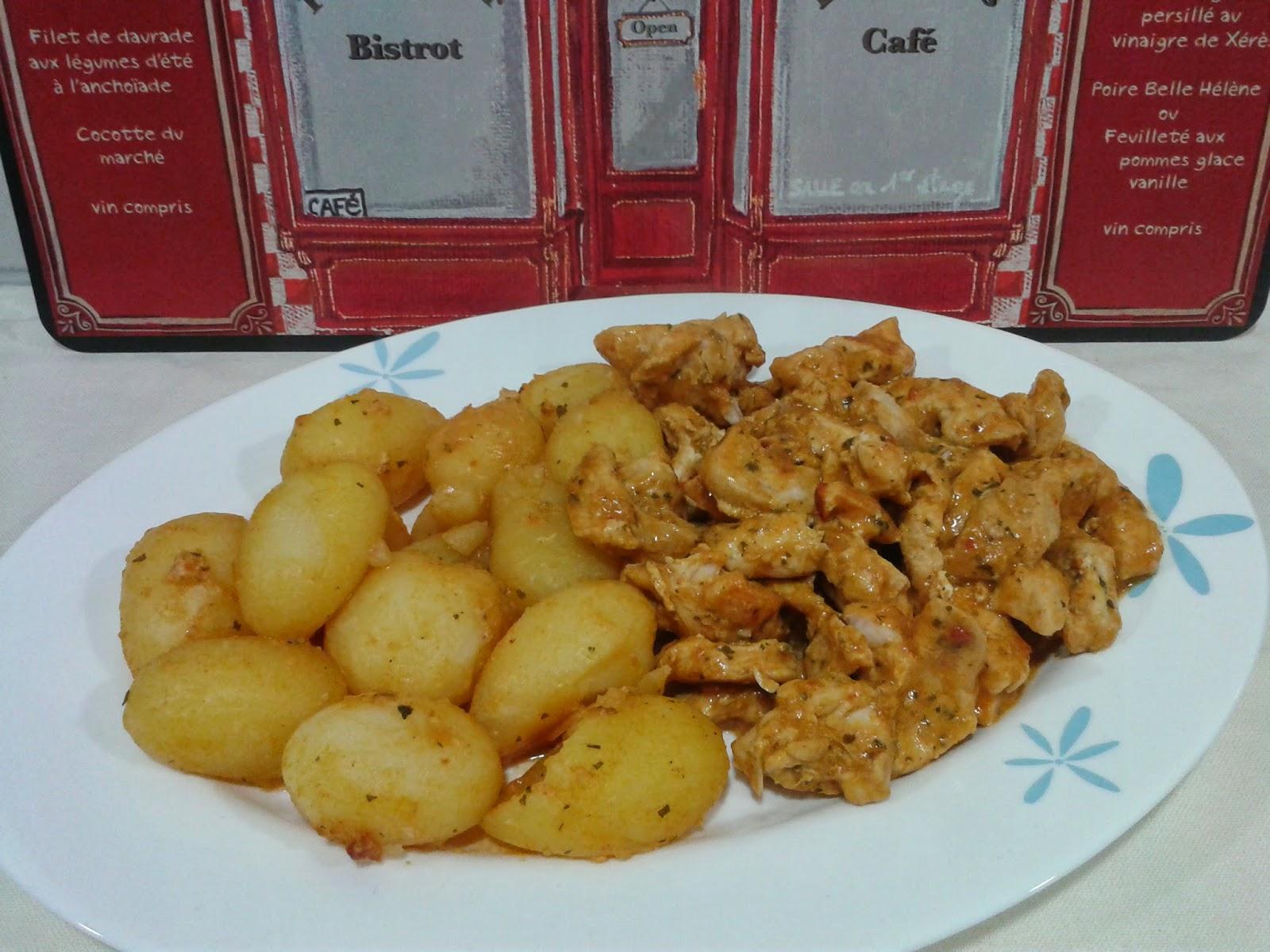 Recetas con encanto pollo con patatas campesinas for Cocinar con cookeo