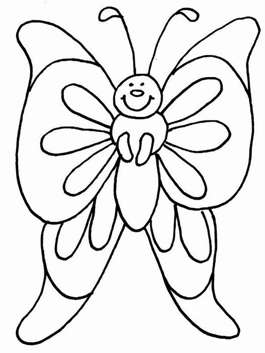 Butterfly Garden Butterfly Coloring Page for Adults