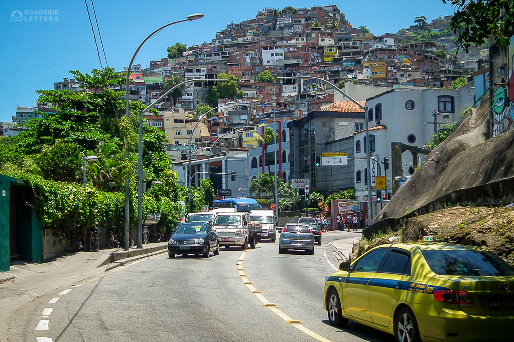 Favela Vidigal on the hill in Rio de Janeiro
