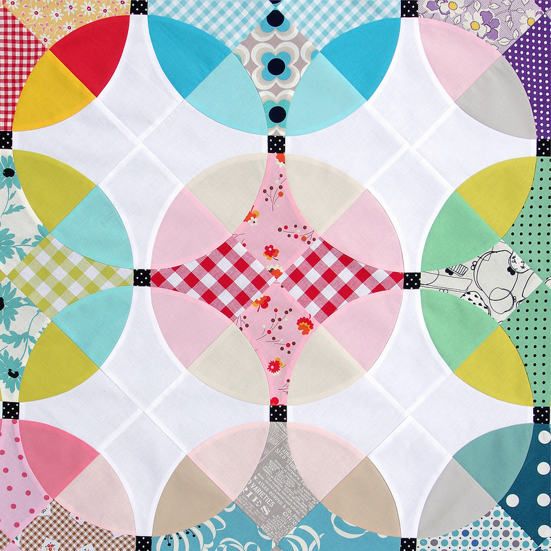 Flowering Snowball Quilt - Work in Progress | © Red Pepper Quilts 2016