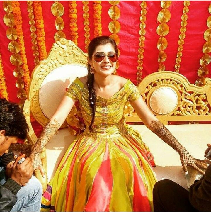 44d162751a Yellow colored outfit is commonly worn by the bride for haldi. So, ensure  to choose the right clothing and look exclusive. Mehndi Ceremony