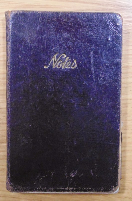 The small black notebook that accompanied  the blue 1936 diary of Kenneth C. Howard.  (National Archives KV 2/27)