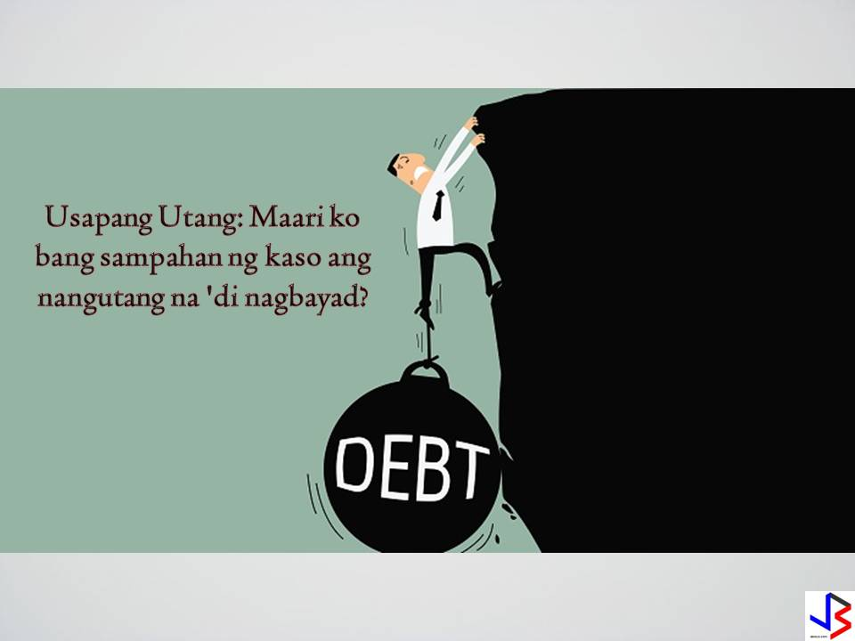 "CAN A LENDER FORCIBLY OR VIOLENTLY ASKED DEBTOR TO PAY? Violent ways of collecting debt punishable by law according to Public Attorney's Chief Persida Acosta ""There is no question that that man who lent you money has the right to oblige you to pay, considering that the loan he extended to you is due and demandable. There are ways allowed by law on how this man can collect the loan from you. One is to demand payment in person or through a letter. Another is by bringing the matter before the Katarungang Pambarangay, in case both of you live in the same barangay (village), city or municipality. Lastly, he may file a collection case against you in court.  Revised Penal Code of the Philippines, to wit: ""Art. 287. Light coercions. — Any person who, by means of violence, shall seize anything belonging to his debtor for the purpose of applying the same to the payment of the debt, shall suffer the penalty of arresto mayor in its minimum period and a fine equivalent to the value of the thing, but in no case less than 75 pesos."" advertisement Lender has 10 years to collect debt The New Civil Code of the Philippines gives light to this, to wit: ""Art. 1144. The following actions must be brought within 10 years from the time the right of action accrues: (1) Upon a written contract; (2) Upon an obligation created by law; (3) Upon a judgment."" Your right to demand the payment of the loan which you extended to your neighbor as evidenced by a written agreement commenced from the time he defaulted in his obligation to pay you. Since he failed to pay you within the one-year period as agreed upon, your right to demand the same started immediately after the said one year period expired. According to the above law, you have 10 years within which to collect the loan from your neighbor, to be reckoned with, from the time he defaulted.   You can file a case in court to demand payment of debt according to Chief PAO Counsel Persida Acosta  There are cases that take time to conclude especially those that are exceptional or complex, owing to the nature of the action itself, or on the surrounding circumstances of the case. But, there are also cases that are promptly heard and speedily resolved. Pursuant to its constitutional power to promulgate rules of procedure in court, the Supreme Court issues rules and regulations aimed at providing a simplified and inexpensive procedure for the speedy disposition of cases. One of the rules issued by the Supreme Court, which applies to your case, is the Revised Rule on Summary Procedure. This rule covers cases where the total amount of the plaintiff's claim does not exceed one hundred thousand pesos (P100,000.00) or two hundred thousand pesos (P200,000.00) in Metropolitan Manila, exclusive of interest and costs (Sec. 1(A), as amended by A.M. No. 02-11-09-SC, November 12, 2002), among others.  advertisement       The rationale behind the Philippine Rule of Procedure for Small Claims Cases as Amended (SC En Banc Resolution dated October 27, 2009 in A.M. No. 08-8-7-SC) is to make claims for P100,000.00 or less be heard in a quick and inexpensive manner through a procedure that is simple and informal. It is informal as only the parties appear at the hearing. Lawyers are not allowed to appear. The parties themselves will present their case speaking even in their own dialect.  The Rule encourages parties to settle their differences with the court's assistance. But even if the Rule of Procedure for Small Claims Cases is simple, laymen could not easily digest the wordings of the rule, thus, defeating its very purpose.  As a court worker assisting in the filing of Small Claims Cases, this blog aims to shed light to some basic questions raised about this rule.  What is the ""Small Claims Rule""?            The Small Claims Rule is a special procedure where money claims for P100,000.00 or less, exclusive of interest and cost are heard. The process is quick and  inexpensive. The procedure is simple and informal.   Who can file  Small Claims Cases?                   Any person whether an individual, corporation, partnership, limited liability partnership, association, or other juridical entity endowed with personality with law.     What are the cases covered under the Small Claims Rule?            The Rule applies to all action which are: (a) purely civil in nature where the claim or relief prayed for by the plaintiff is solely for payment or reimbursement of sum of money, and (b) the civil aspect of criminal actions, either filed before the institution of the criminal action, or reserved upon the filing of the criminal action in court, pursuant to Rule 111 of the Revised Rules Of Criminal Procedure.            These claims or demands may be:  (a)         For money owed under the following:  1.    Contract of Lease; 2.    Contract of Loan; 3.    Contract of Services; 4.    Contract of Sale; or 5.    Contract of Mortgage;  (b)         For damages arising from any of the following:  1.    Fault or negligence; 2.    Quasi-contract; or 3.    Contract;  (c)      The enforcement of a barangay amicable settlement or an arbitration award involving a money claim covered by this Rule pursuant to Sec. 417 of Republic Act 7160, otherwise known as the Local Government Code of 1991.  Where to file Small Claims Cases?          Small Claims Cases can be filed before the Metropolitan Trial Courts, Municipal Trial Courts in Cities, Municipal Trial Courts, and Municipal Circuit Trial Courts where the plaintiff or any of the principal plaintiffs resides, or where the defendant or any of the principal defendants resides, or in the case of a non-resident defendant where he may be found, at the election of the plaintiff.  How is Small Claims Action commenced?            A small claims action is commenced by filing with the court an accomplished and verified Statement of Claim (Form 1-SCC) in duplicate, accompanied by a Certification of Non-forum Shopping (Form 1-A, SCC), and two (2) duly certified photocopies of the actionable documents/subject of the claim, as well as the affidavits of witnesses and other evidence to support the claim.     What to prepare before filing an accomplished and verified Statement of Claim?            The plaintiff should gather all documents and evidence pertinent to the claim. Examples:  (a.)       Contract/Agreement Promissory Note/Receipts/Affidavit of Witness/es/ Other important documents such as Check/s or Picture/s (b.)       Latest Demand Letter (if any), its proof of service and proof or receipt (c.)        Certificate to File Action from the barangay, if necessary (d.)       Special Power of Attorney in case plaintiff cannot attend the hearing (e.)       Secretary's Certificate of Board Resolution authorizing you to file the case, if you are representing a corporation, partnership, cooperative or association   Is there a filing fee for Small Claims Cases?            Yes. The plaintiff shall pay the docket and other legal fees prescribed under Rule 141 of the Revised Rules of Court, unless allowed to litigate as an indigent.  What are the actions of the Court after a Small Claims Case had been filed?  The Court has two (2) actions:  (a.)       Dismissal of the Claim. – After the court determines that the case falls under the Rule of Procedure for Small Claims Cases, it may, from an examination of the allegations of the Statement of Claim and such evidence attached thereto, by itself, dismiss the case outright on any of the grounds apparent from the Claim for the dismissal of a civil action.  (b.)       Summons and Notice of Hearing. – If no ground for dismissal is found, the court shall forthwith issue Summons on the day of receipt of the Statement of Claim, directing the defendant to submit a verified Response.  The court shall also issue a Notice to both parties, directing them to appear before it on a specific date and time for hearing, with a warning that no unjustified postponement shall be allowed.  When to file a Response in Small Claim Cases?       The defendant shall file with the court and serve on the plaintiff a duly accomplished and verified Response with a non-extendible period of ten (10) days from receipt of summons.  How to make a Response?            A Response form (Form 3-SCC) will be served to the defendant. The defendant will simply fill up the form. The Response shall be accompanied by certified photocopies of documents, as well as affidavits of witnesses and other evidence in support thereof.    What is the effect of failure to file a Response?            Should the defendant fail to file his Response within the required period, and likewise fail to appear at the date set for hearing the court shall render judgment on the same day, as may be warranted by the facts.            Should the defendant fail to file his response within the required period but appears at the date set for hearing, the court shall ascertain what defense he has to offer and proceed to hear, mediate or adjudicate the case on the same day, as may be warranted by the facts.  Is a representative allowed in Small Claims Cases?       Appearance through a representative is allowed but must be for a valid cause. The representative of an individual-party must not be a lawyer, and must be related to or next-of-kin of the individual party. Juridical entities shall not be represented by a lawyer in any capacity.            The representative must be authorized under a special power of attorney to enter into an amicable settlement of the dispute and to enter into stipulations or admissions of facts and of documentary exhibits.  What is the effect of non-appearance of parties?       Failure of the plaintiff to appear shall be cause for the dismissal of the claim without prejudice. The defendant who appears shall be entitled to judgment on a permissive counterclaim.           Failure of the defendant to appear shall have the same effect as failure to file a Response. This shall not apply where one or two or more defendant who are sued under a common cause of action and have pleaded a common defense appears at the hearing.            Failure of both parties to appear shall cause the dismissal with prejudice of both the claim and counterclaim.  Is postponement allowed in Small Claims Cases?            A request for postponement of a hearing may be granted only upon proof of the physical inability of the party to appear before the court on the scheduled date and time. A party may avail of only one (1) postponement.  What will happen during the hearing of Small Claims Cases?            At the hearing, the judge shall exert efforts to bring the parties to an amicable settlement of their dispute. Any settlement or resolution of the dispute shall be reduced into writing, signed by the parties and submitted to the court for approval.  What will happen if there is no settlement?            If efforts at settlement fail, the hearing shall proceed in an informal and expeditious manner and be terminated within one (1) day.  When will  Decision be issued in Small Claims Cases?            After the hearing, the court shall render its decision on the same day, based on the facts established by the evidence. The decision shall immediately be entered by Clerk of Court in the court docket for civil cases and a copy thereof forthwith served on the parties.            The decision shall be final and unappealable.   How to execute Small Claims Cases?       If the decision is rendered in favor of the plaintiff, execution shall issue upon a motion.        Finally, under the Rule of Procedure for Small Claims Cases, the Clerk of Court or other court personnel shall provide such assistance as may be requested by a plaintiff or a defendant regarding the availability of forms and other information about the coverage, requirements as well as procedure for small claims cases."