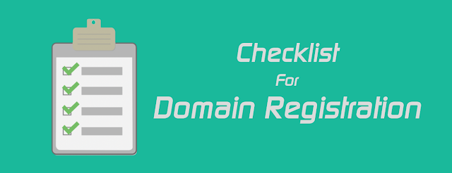 consideration before domain registration