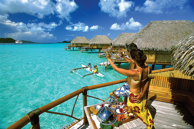 This Resort Is Located On The Island Motu Tevairoa 10 Minutes By Boat From Bora Airport 15 Main City Of Vaitape