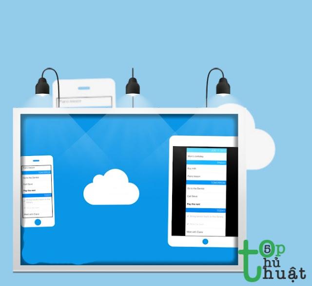 Dùng kho lưu trữ đám mây để đưa dữ liệu từ điện thoại sang máy tính nhanh chóng
