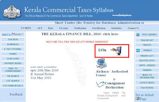 Kerala Commercial Taxes Syllabus