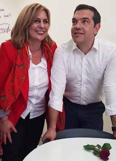 Στο εκλογικό κέντρο της Τζένης Ταπραντζή ο Αλέξης Τσίπρας – VIDEO & ΦΩΤΟ