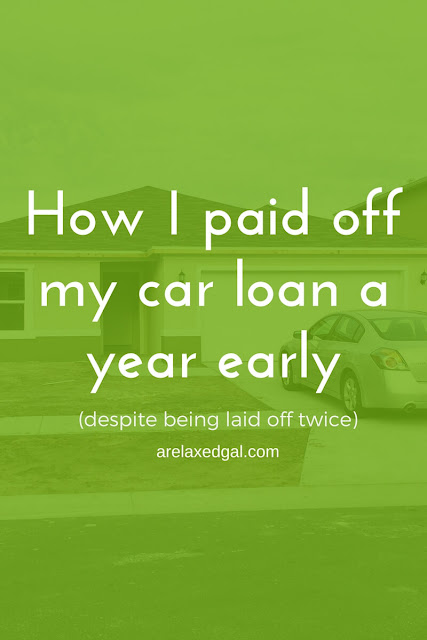 Financial tip: How I paid off my car loan a year early. | arelaxedgal.com