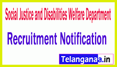 Social Justice and Disabilities Welfare Department  SJDWD Recruitment Notification