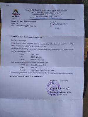 Rektor IAIN Madura Layangkan Surat Untuk Mahasiswa Pasca diDemo