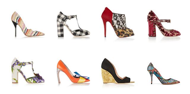Цветные туфли с принтом для типа фигуры Перевернутый треугольник