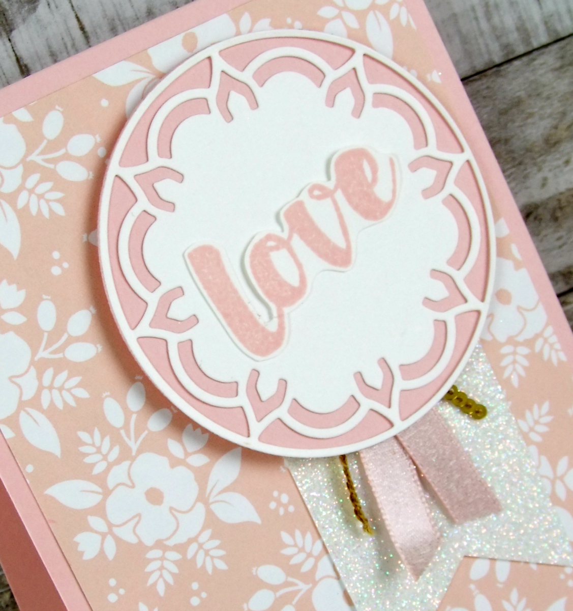 Use That Same Layering Circle Framlit To Then Cut A Of Powder Pink Cardstock Layer Behind The White This Makes Delicate