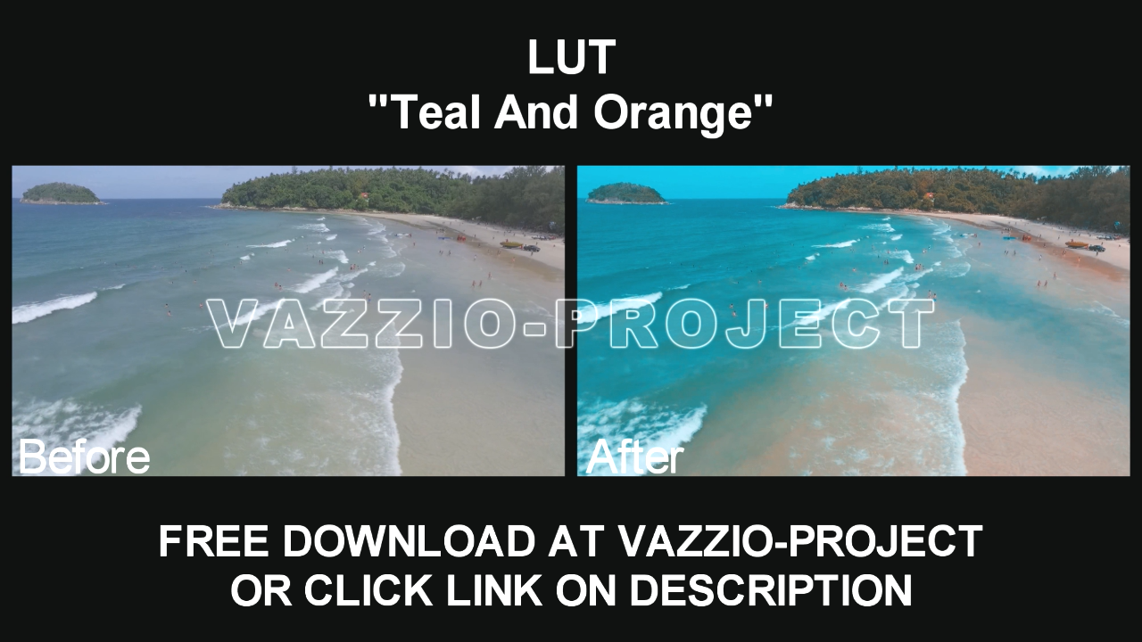 LUT Preset - Teal And Orange Free Download for Sony Vegas