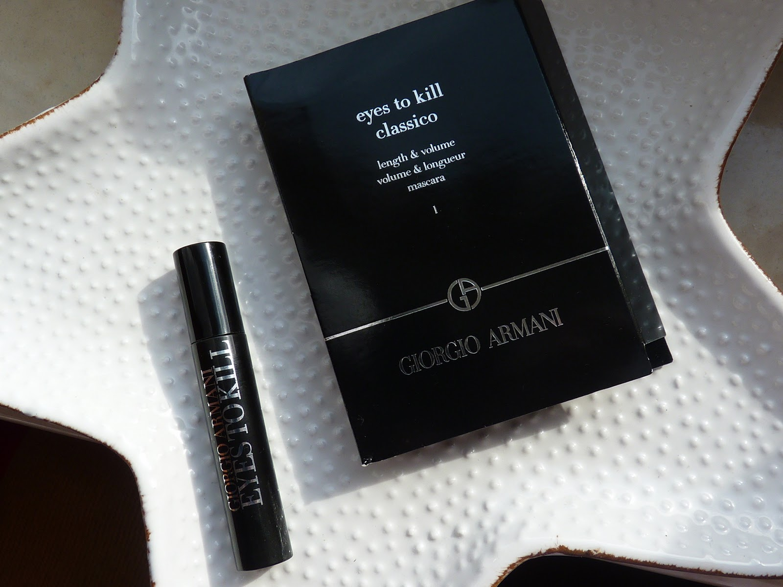 Giorgio Armani Eyes to kill mascara / lenght & volume - test miniatury tuszu do rzęs