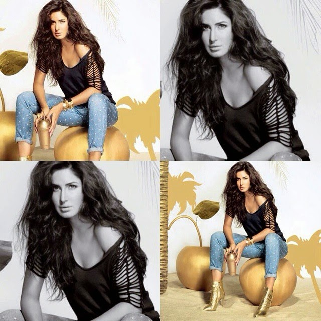 aww shes the cutest princess 😻😭💕,  Katrina Kaif Golden Dress hot Pics from Vogue Magazine December 2014 Edition