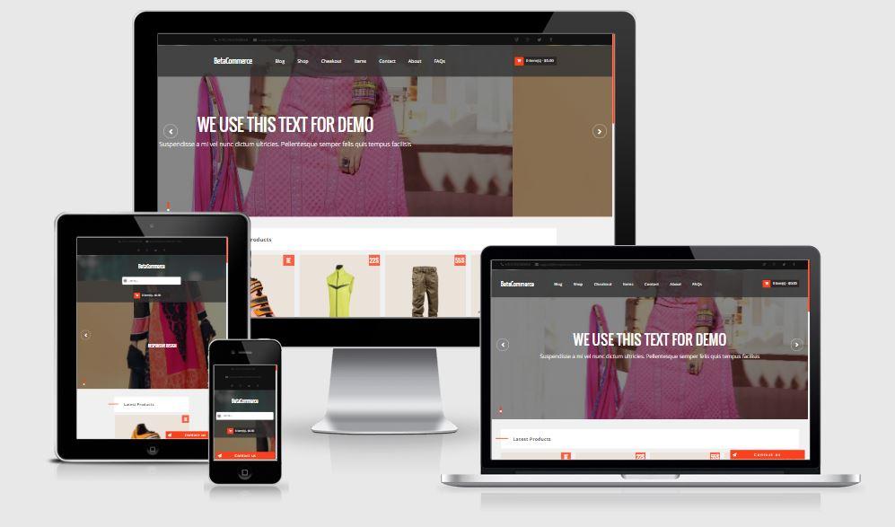 BetaCommerce Shopping Blogger Template - giao diện bán hàng online đơn giản
