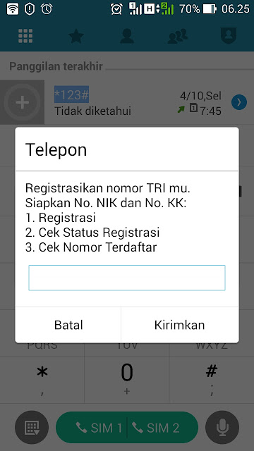 Paket kuota 20gb rp10 tri setelah registrasi kartu prabayar