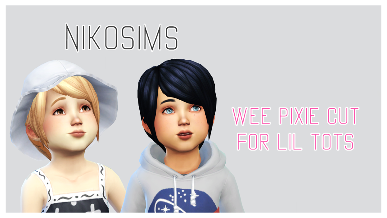 My Sims 4 Blog Wee Pixie Cut Hair For Toddlers By Nikosims