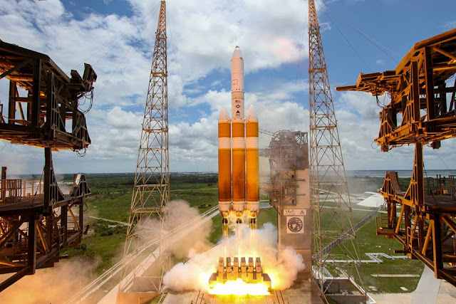 Delta IV Heavy Launches from Cape Canaveral, Florida