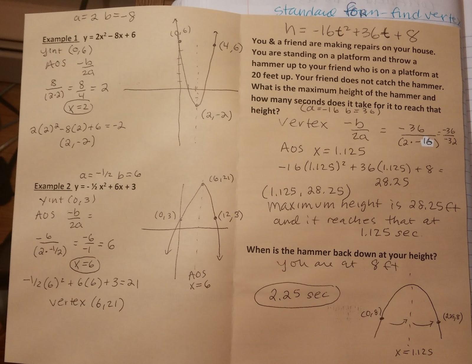 Beautiful Math Standard Form