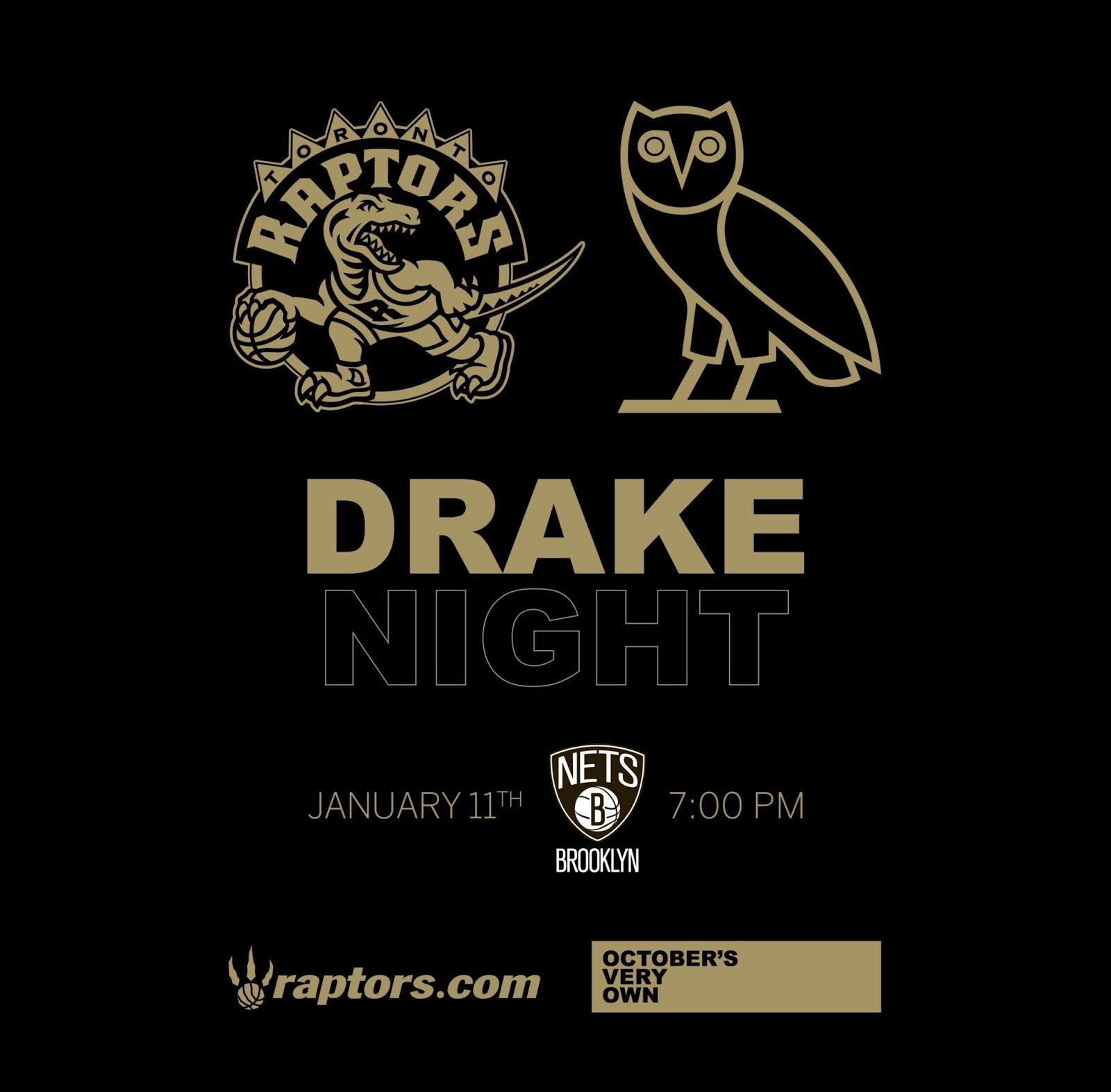 OCTOBERS VERY OWN  Toronto Raptors ~ Drake Night 0a204c182