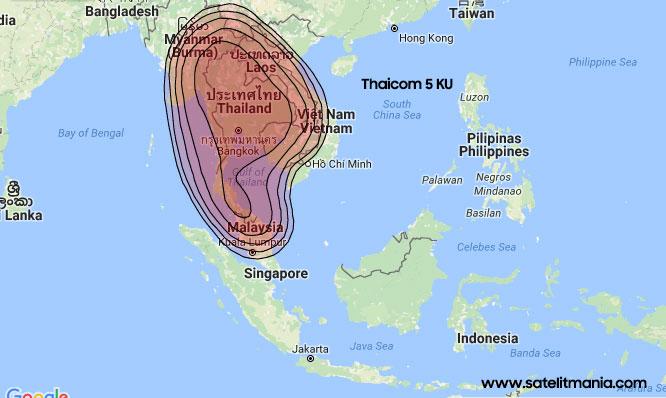 Frekuensi Terkuat Thaicom 5 KU Band