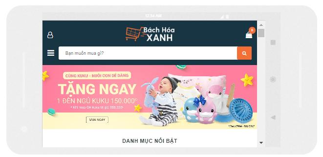 Template blogspot bán hàng chuẩn seo trên di động ngang