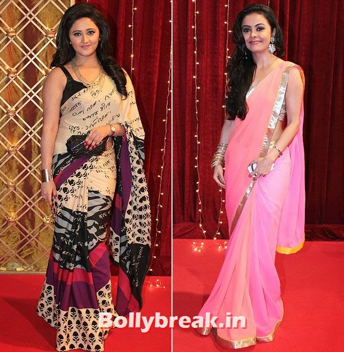 Rashami Desai and Devoleena Bhattacharjee on Indian Tele Awards 2013 Red carpet, Indian Tele Awards 2013 red Carpet Pictures - ITA - Lauren Gottlieb, Mouni Roy, Ratan Rajput