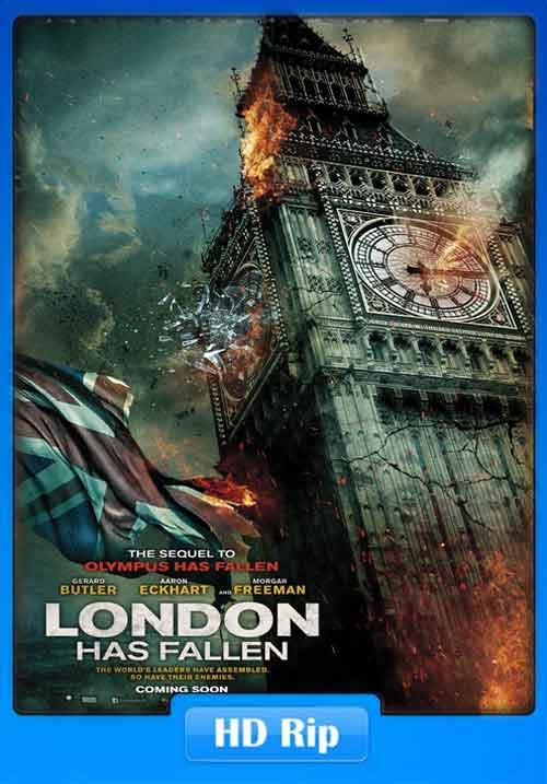 London Has Fallen 2016 WEBHDRip 250MB Poster