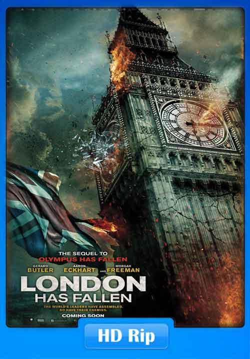 London Has Fallen 2016 WEBHDRip 250MB Poster
