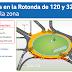 Continúa la obra en la rotonda de 120 y 32 en La Plata