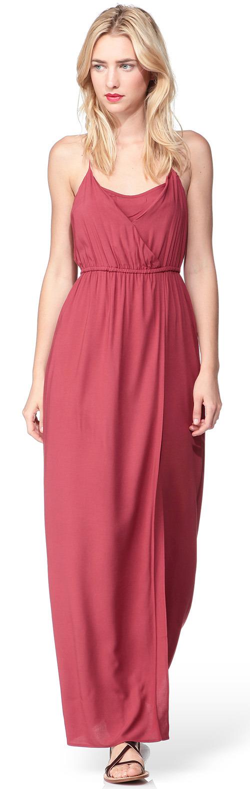 Robe longue rose Vero Moda