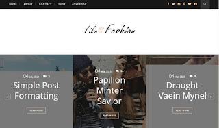 Life & Fashion Minimal Clean & Responsive Blogger Template