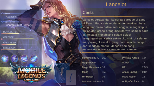 Hero Lancelot Mobile Legends