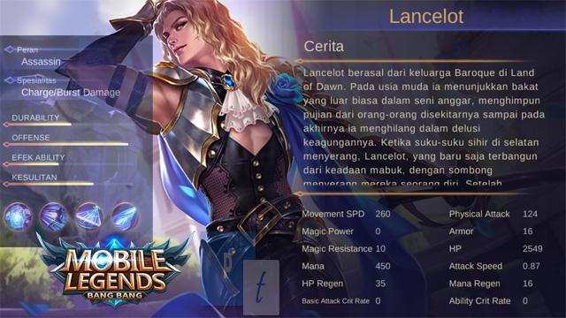 Skill Hero Lancelot Mobile Legends, Cara Menggunakan, Kelebihan Kekurangannya - Penemuan Terbaru