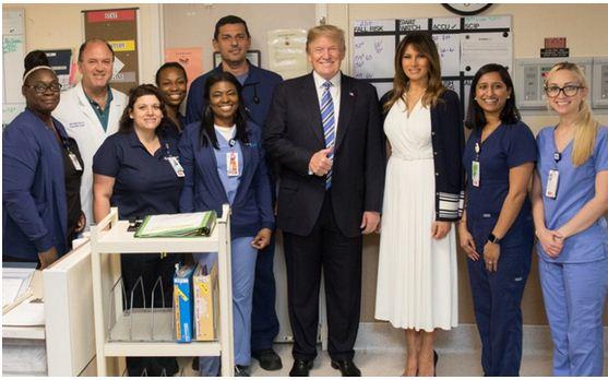 president-trump-and-wife-visits-florida-shootingsurvivors