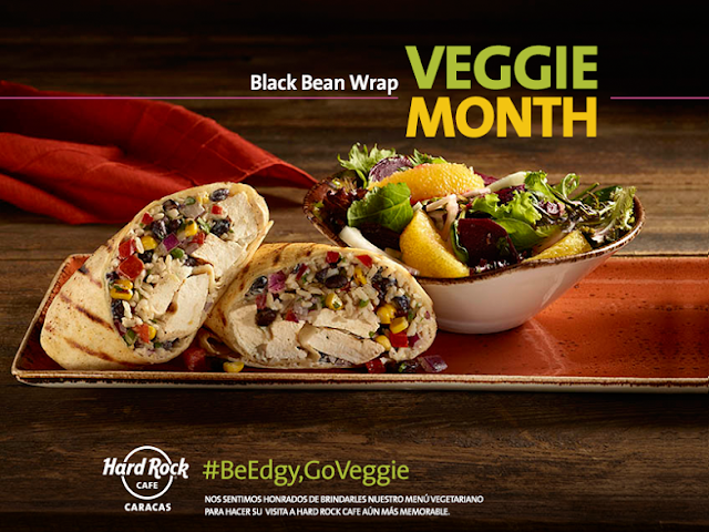 """Veggie Month"" mes vegetariano octubre hard rock cafe caracas"