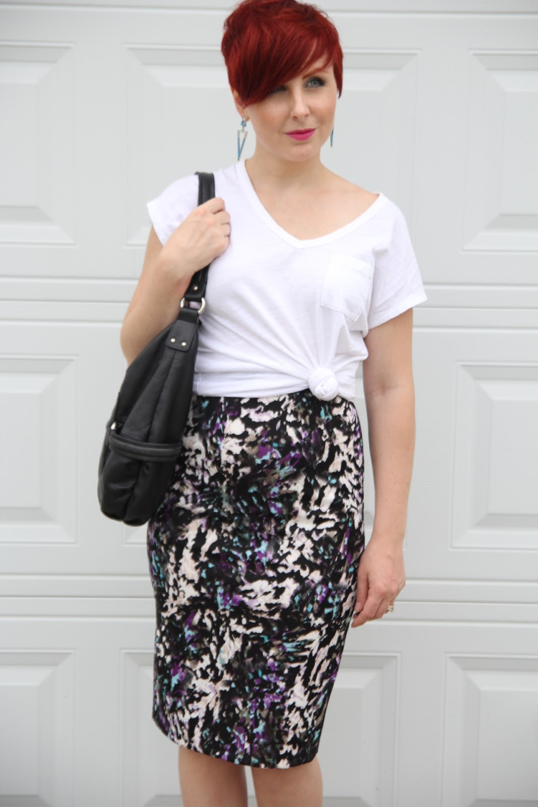 thrift and shout cute outfit of the day pencil skirt