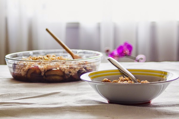 Brown rice pudding with roasted plums thisisasweetblog recipe breakfast