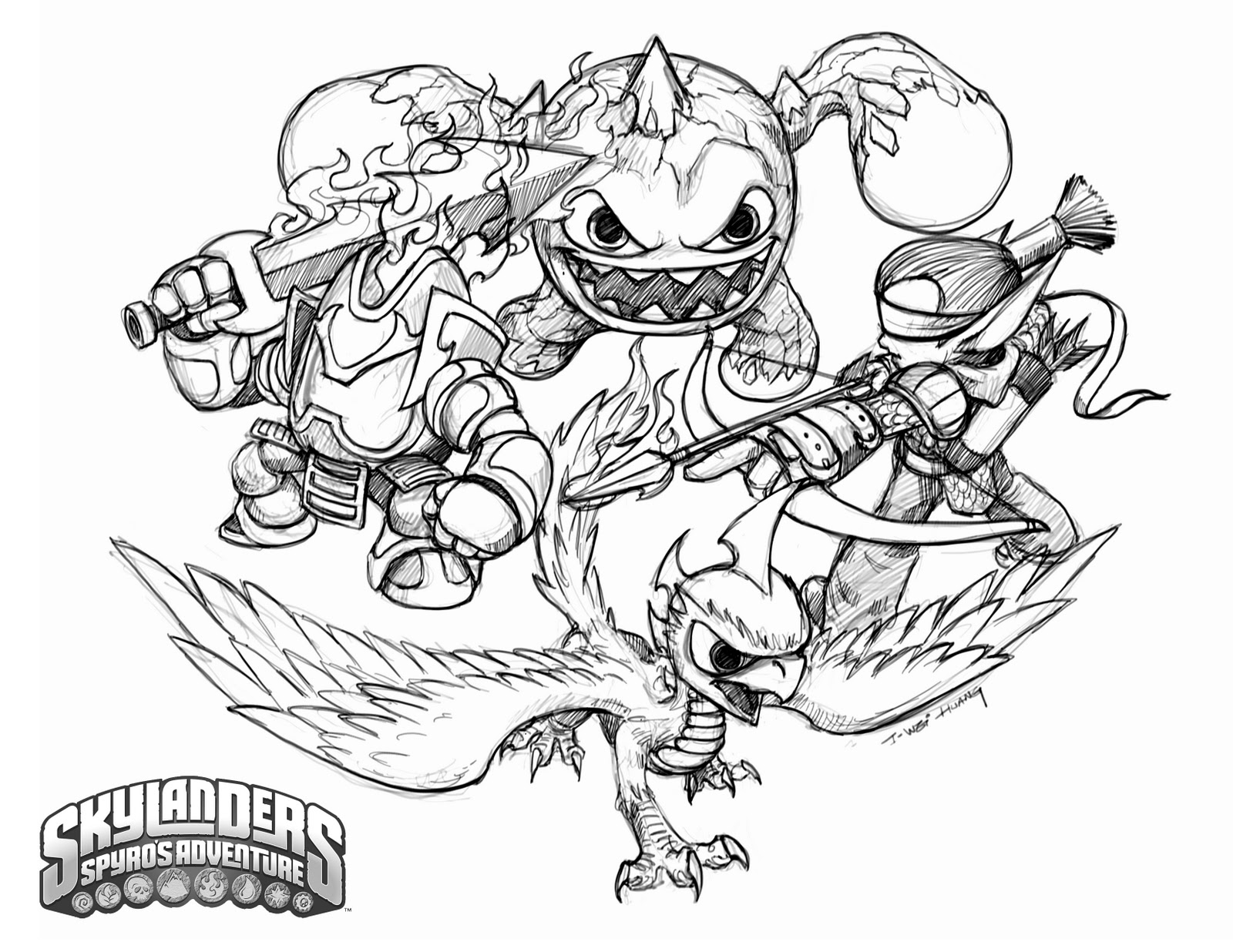 hm coloring pages skylanders giants - photo #47