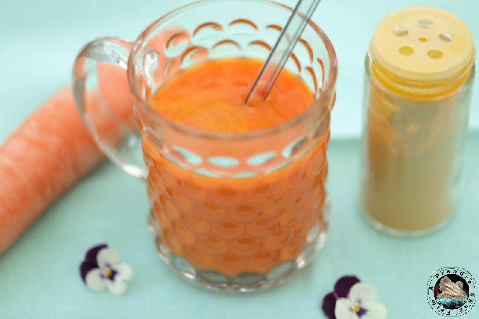 Jus carotte curcuma