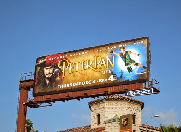 Peter Pan Live! NBC billboard
