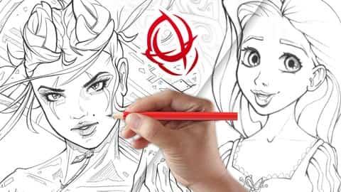 دورة كاملة لرسم الشخصيات
