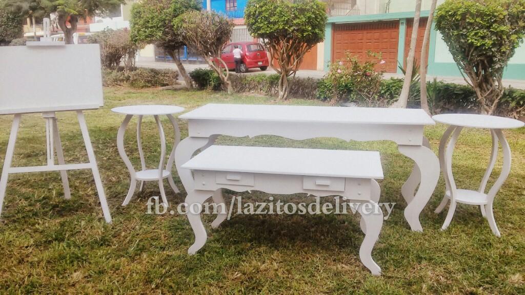 Alquiler y venta de mesas vintage accesorios y mobiliario for Mesas vintage