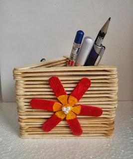 artesanato feito com palito de picolé