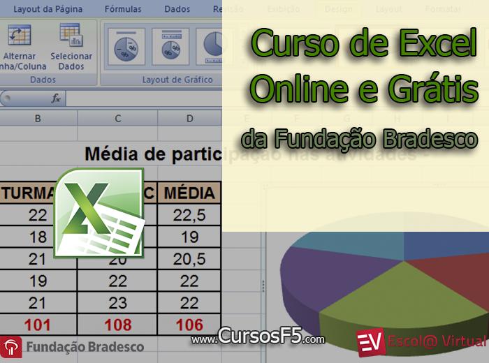 Curso de Excel 2010 Básico Online Grátis | Fundação Bradesco