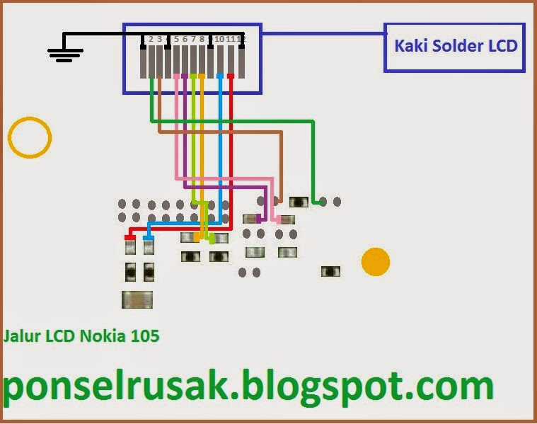 How to repair damaged lcd screen on a Nokia mobile phone damaged in 105.