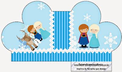 Caja abierta en forma de corazón de Frozen Niñas para Navidad Azul.