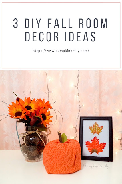 3 diy fall room decor ideas pumpkin emily